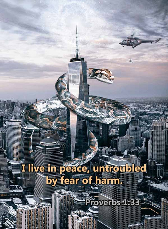 I live in peace untroubled by fear of ha