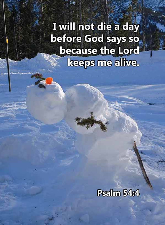 I will not die before God says so Psalm