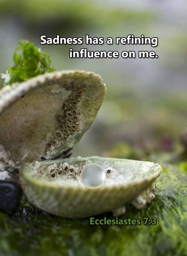 Sadness has a refining influence on me E