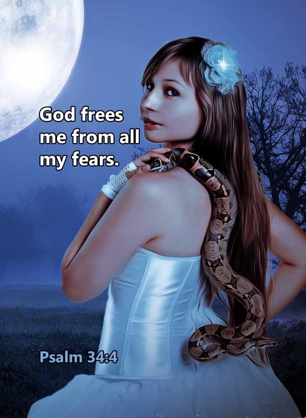 God frees me from all my fears. Psalm 34