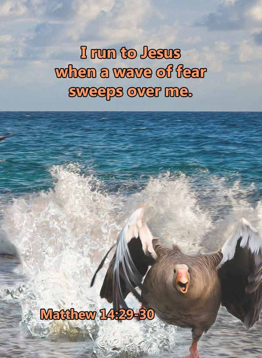 When a wave of fear sweeps over me Matth