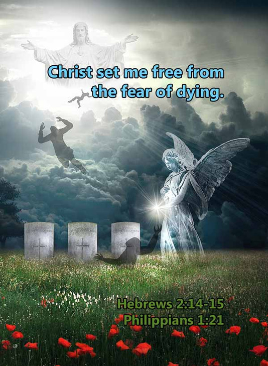 Free from the fear of dying Hebrews 2LR.