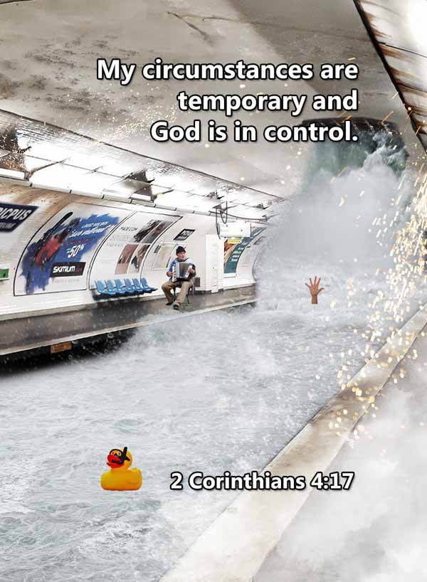 My circumstances are temporary 2 Corinth