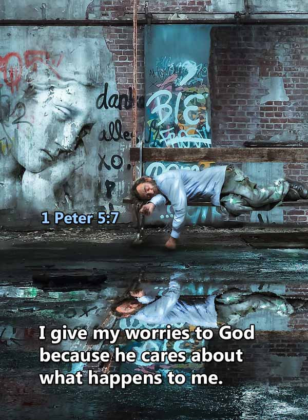 God cares about what happens to me 1 Pet