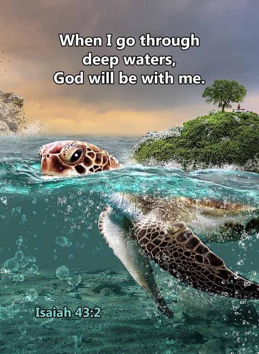 When I go through deep waters Isaiah 43_