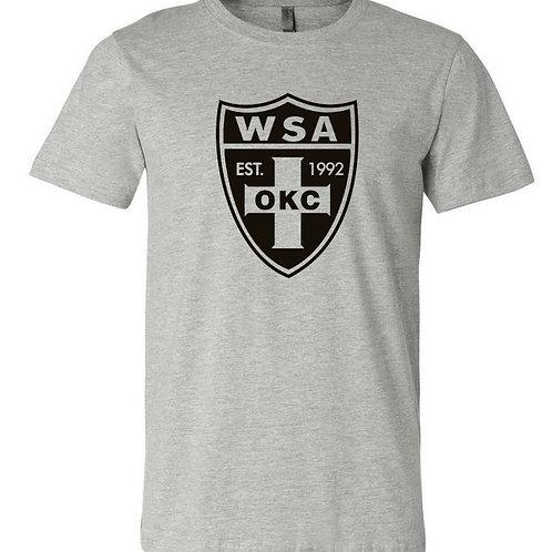 981-WSA-BLACK Shield-Gildan-Short Sleeve-Heather Grey