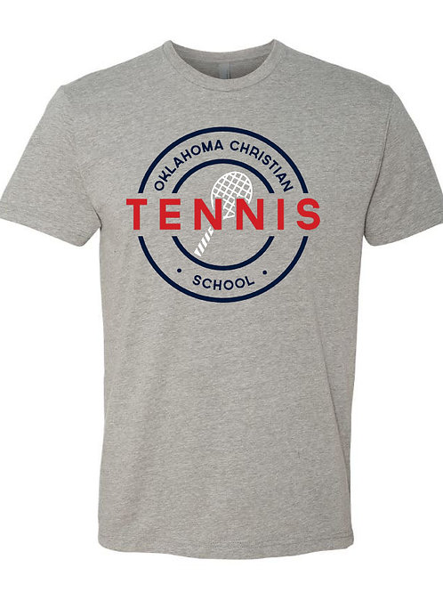 2302. OCS Tennis Circle SS - Dark Heather Gray