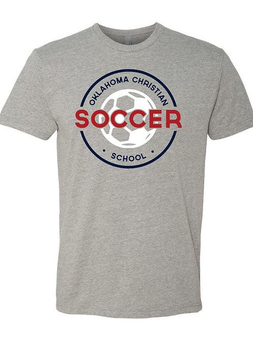 2202. OCS Soccer Circle SS - Dark Heather Gray