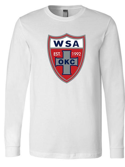 954-WSA-Shield-NL-White-LONG SLEEVE