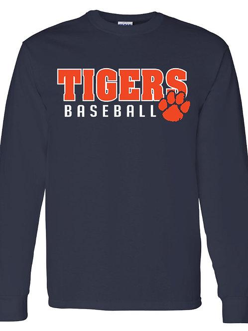 Tigers Baseball Long Sleeve Tee