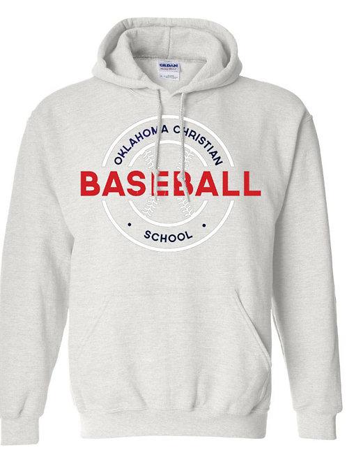 2706. OCS Baseball Circle Hoodie - Ash