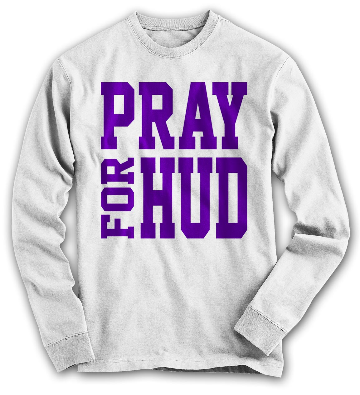 Pray For Hud Long Sleeve - White
