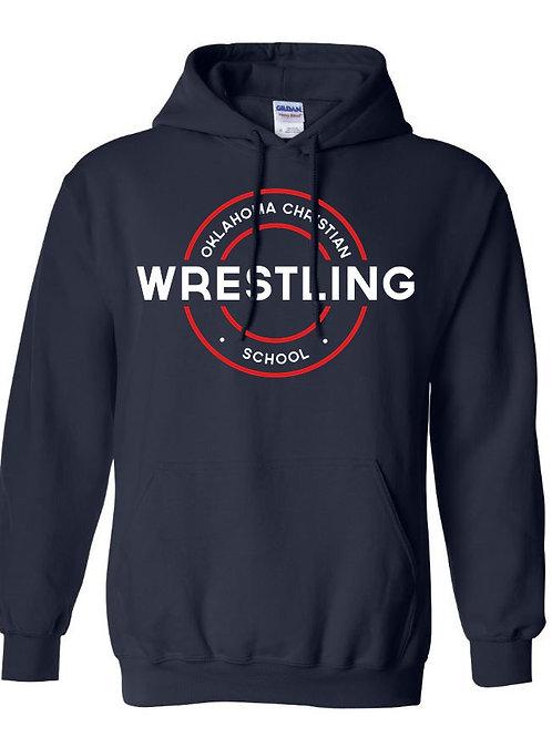 2607. OCS Wrestling Circle Hoodie - Navy