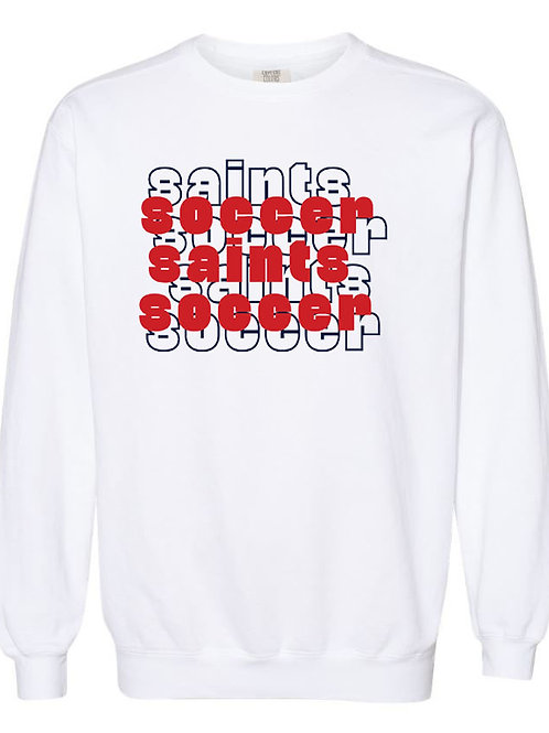 2211. OCS Soccer Stacked - Comfort Color Sweatshirt - White