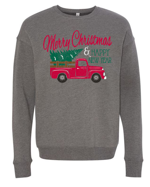 Merry Christmas Truck - Sweatshirt