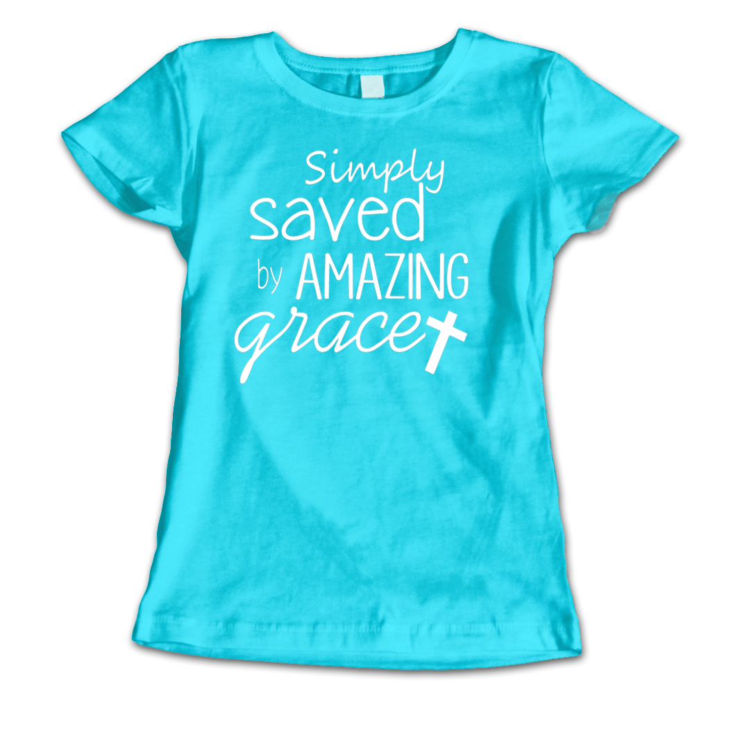 Saved By Grace Ladies - Teal