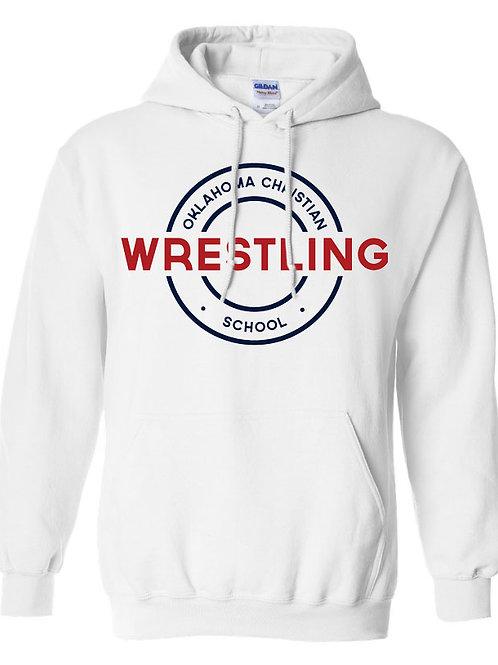 2604. OCS Wrestling Circle Hoodie - White