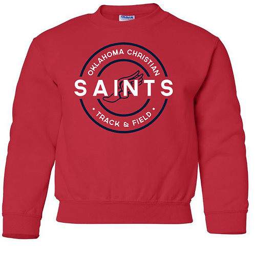 2509. OCS Track Circle Youth Crew Sweatshirt - Red