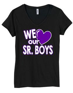 We Love Our Sr. Boys - Black Heather V-Neck