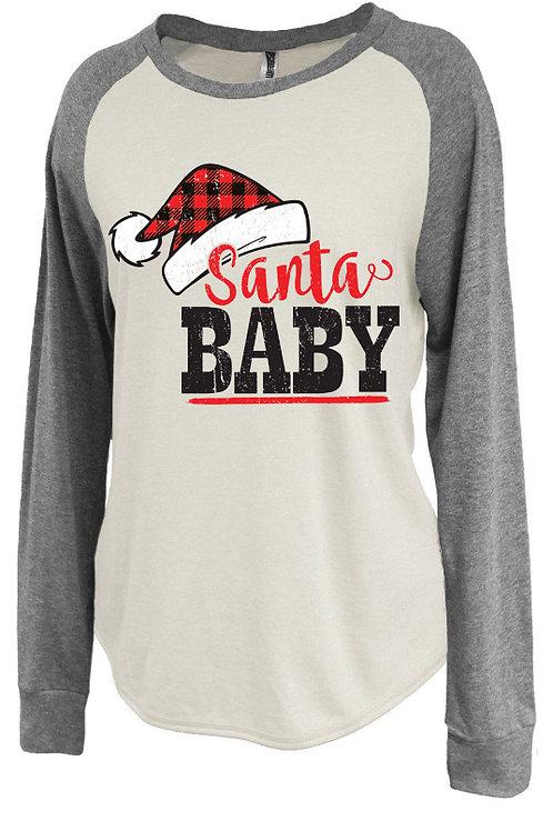 Santa Baby-Ladies Raglan