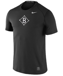 Nike Cool Fitted Short Sleeve Black - 20.00