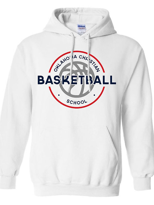 2104. OCS Basketball Circle Hoodie - White