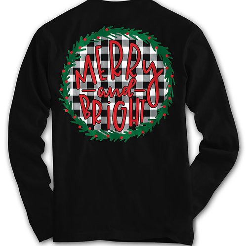 Merry and Bright-Comfort Colors Long Sleeve