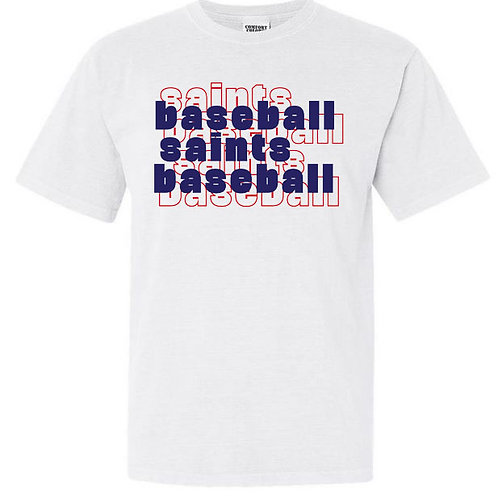 2713. OCS Baseball Stacked - Comfort Color SS - White