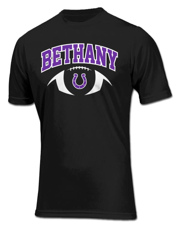 Bethany Colts Football Mock-up - Black A4 Dri fit