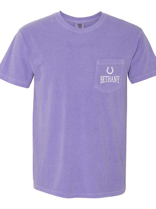 9006. Bethany Bronchos State-Comfort Colors-Pocket-Violet