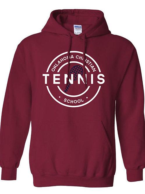 2305. OCS Tennis Circle Hoodie - Crimson