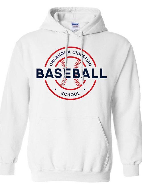 2704. OCS Baseball Circle Hoodie - White