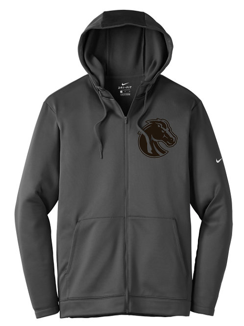 316. Bethany Angry Broncho - Nike Zip Hoodie - Anthracite