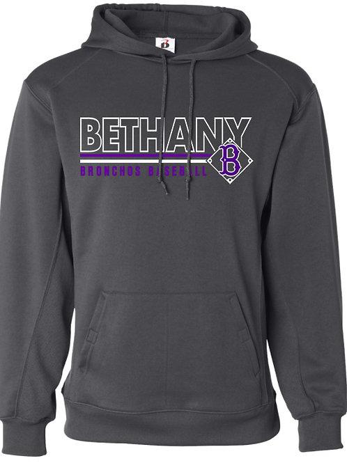 7007. Bethany Stripe Logo -Performance Hoodie