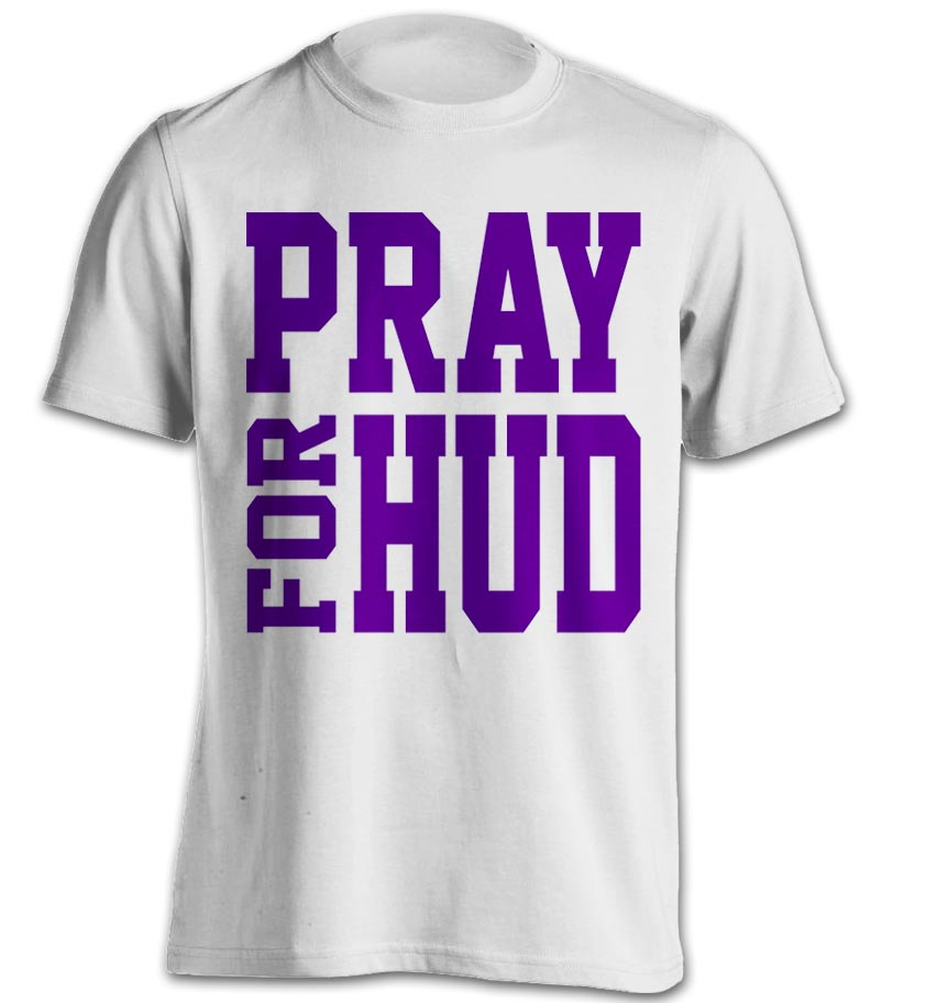 Pray For Hud Front White