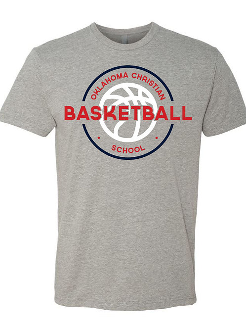 2101. OCS Basketball Circle SS - Dark Heather Gray