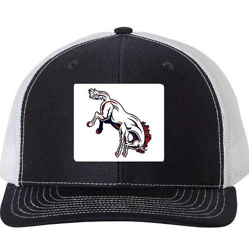 3035-OKC Broncos Trucker Patch Hat-Navy