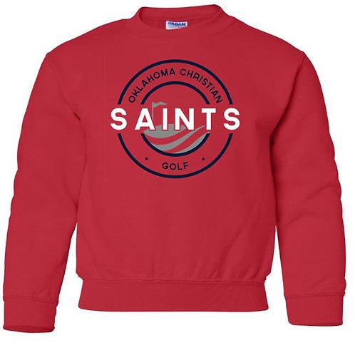 2409. OCS Golf Circle Youth Crew Sweatshirt - Red