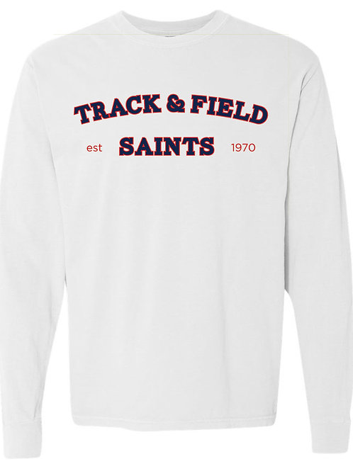 2517. Saints Track Arched - Youth Comfort Color LS - White