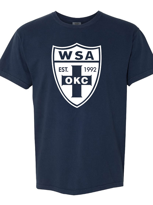 983-WSA-White Shield-COMFORT COLORS-Short Sleeve-Navy