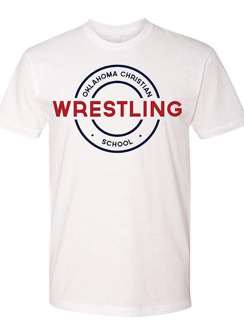 2600. OCS Wrestling Circle SS - White
