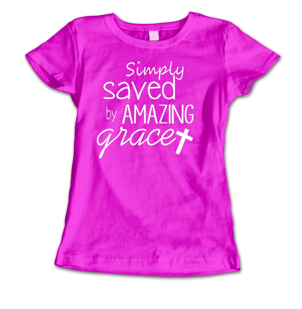 Saved By Grace Ladies - THot Pink