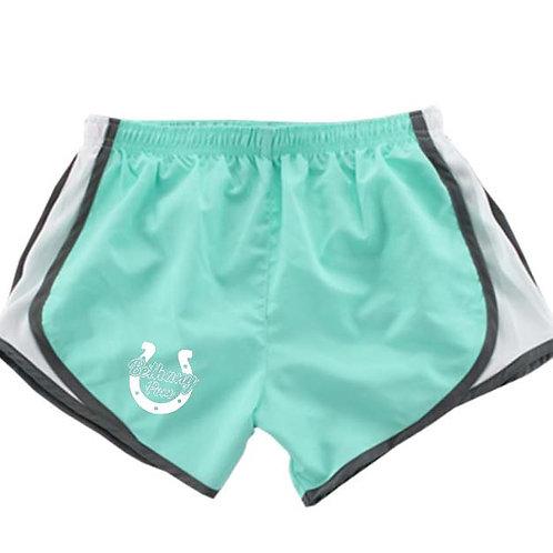 606. BHS Pom Shorts - Mint Green & Black