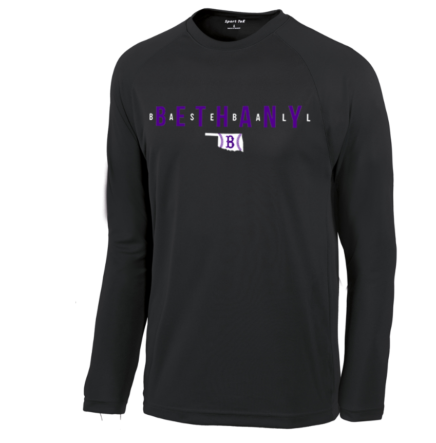 Bethany Baseball Long Sleeve - Black