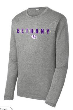 Bethany Baseball Long Sleeve - Sports Gray