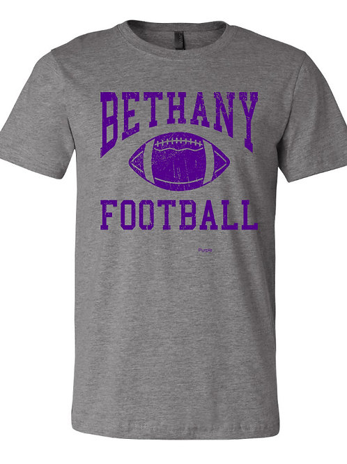 9004. Bethany Football Distressed - Bella Deep Heather