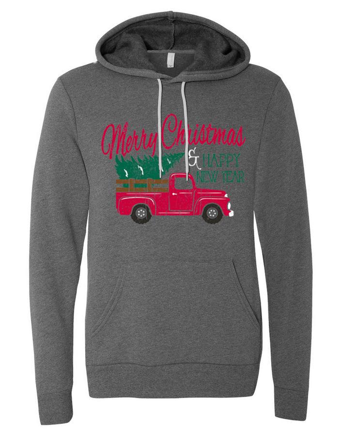 Merry Christmas Truck - Bella Hoodie