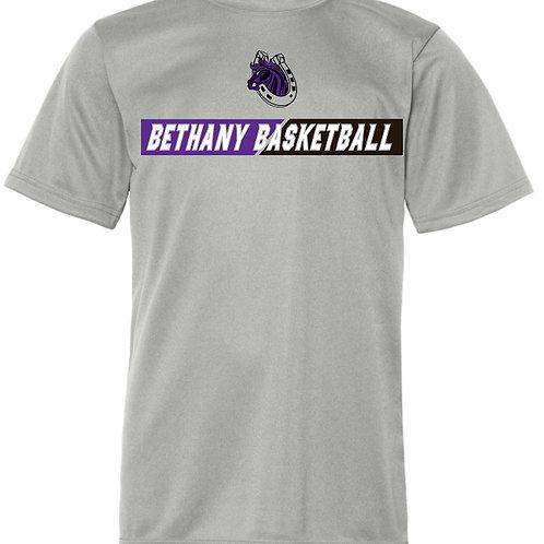 312. Bethany Basketball - Performance Short Sleeve - Silver