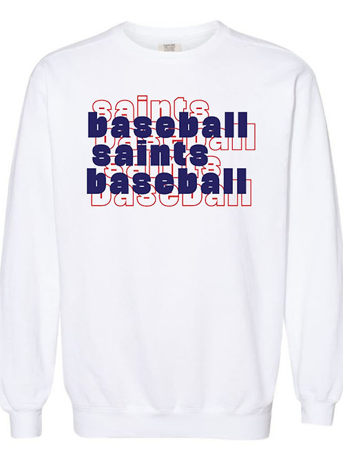 2711. OCS Baseball Stacked - Comfort Color Sweatshirt - White