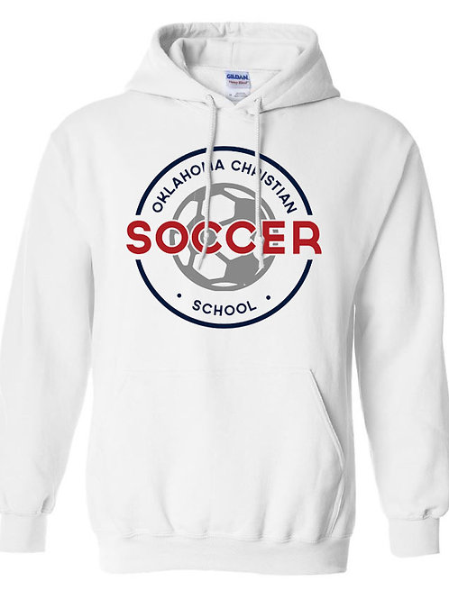 2204. OCS Soccer Circle Hoodie - White